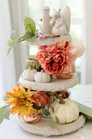 faux floral arrangements how to style a tiered tray with fall faux floral arrangements