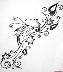 vine flowers and fairy tattoo design tattoo viewer com