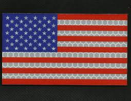 American Flag Morale Patch American Flag Hi Viz Reflective Velcro Patch Forward