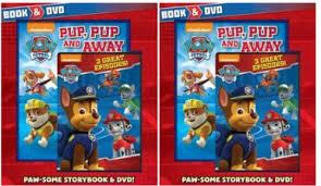 paw patrol book u0026 dvd pack 4 book