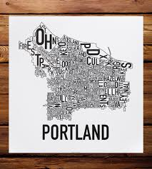 Portland Maps Com by Portland Neighborhood Map Art Print Features Local Pride Ork