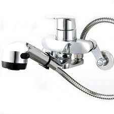 Wall Kitchen Faucet by Kitchen Faucet Taps Chrome Pull Out Wall Mount Sink Faucet 2