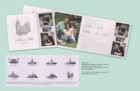 lds wedding invitations matik for