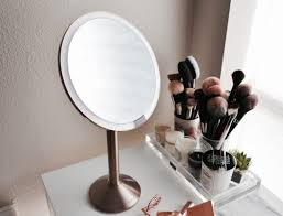 bed bath and beyond light up mirror 57 most top notch simplehuman wall mirror makeup vanity bed bath and