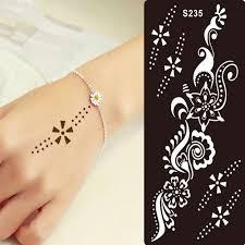 1 stücke henna tattoo schablone für glitter tattoo vorlage