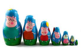 amazon matryoshka russian nesting wooden doll peppa pig 7 pcs