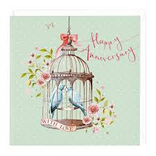 happy anniversary cards happy anniversary with card for lovebirds whistlefish