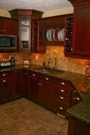 Kitchen Cabinets Craftsman Style Small Kitchen Design With Cherry Wood Cabinets Craftsman Style