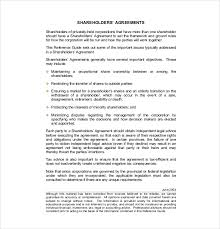 13 shareholder agreement templates u2013 free sample example format