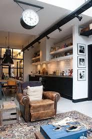 cuisine de loft cuisine loft avec carrelage blanc déco
