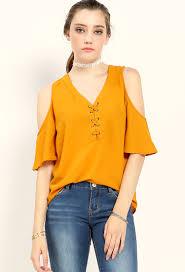 open shoulder blouse lace up open shoulder blouse shop blouse shirts at papaya clothing