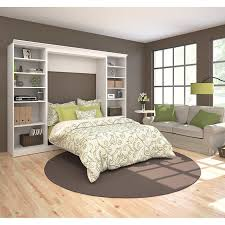 Storage Units For Bedrooms Bestar Audrea Full Wall Bed With Two 25