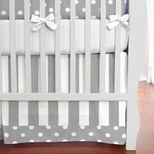 Grey And White Bedding Sets Gray And White Dots And Stripes Crib Bedding Neutral Baby