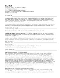Writer Resume Sample by Technical Writer Resume Template Free Sample Example