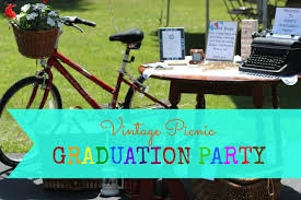 Graduation Party Centerpieces For Tables by Our Life In A Click Entertaining Vintage Picnic Graduation Party