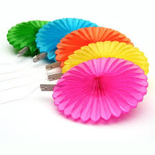 paper fan decorations 5 tissue paper fan decorations in 5 bright colours pipii