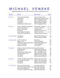 musical theatre resume exles 2 what makes a essay monash musical theatre