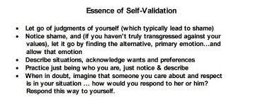 self validation skills dbt skills application self help