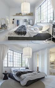 scandinavian bedroom decor ideas with perfect and white color