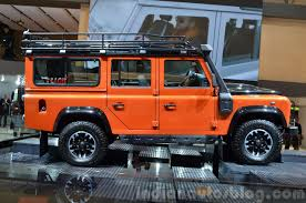 land rover ninety land rover defender adventure edition side at the 2015 geneva