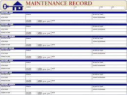Home Maintenance Spreadsheet by Maintenance Record Ez Landlord Forms