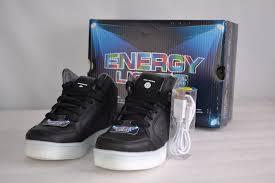 skechers energy lights black skechers energy lights boys sneaker hi top black youth sizes 90600l