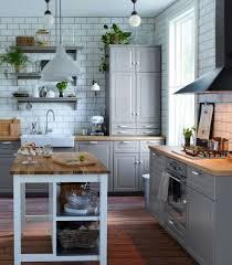 ikea küche grau tradicional cocina gris con frentes bodbyn fregadero de porcelana