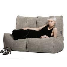 bean bag sofa bed 2 seater cream sofa designer bean bag couch cream fabric