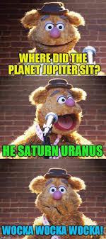 Saturn Meme - where did the planet jupiter sit he saturn uranus wocka wocka