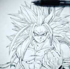 super saiyan 5 goku drawing dragonballz amino