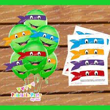 8 images free printable ninja turtle balloon ninja