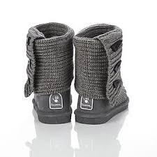 womens knit boots bearpaw s gray knit slipper boot