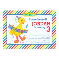 big birthday cards big bird birthday cards invitations greeting photo cards zazzle