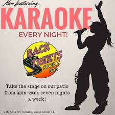 karaoke every night