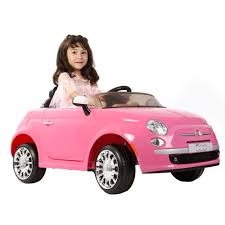 fiat 6v fiat 500 car in pink toys r us