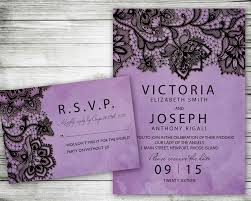 wedding invitation rsvp date wedding invitation purple black lace printable invite set