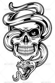 skull with snake jpg image skull tribal available here