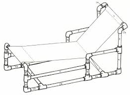 chaise pvc recycle pvc pipe furniture for chaise lounge chair plan