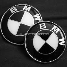 black and white bmw logo bmw black white trunk emblems