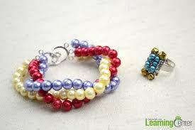 handmade bracelet designs images Handmade beaded jewelry designs simple pearl bracelet and ring set jpg