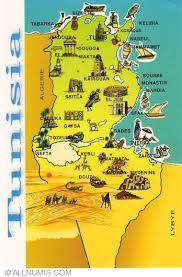 tunisia map map of tunisia tourist 2004 tunisia postcard 2076