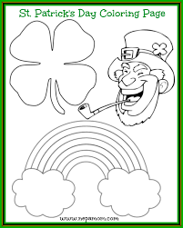 st patrick u0027s day coloring page nepa mom