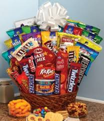 junk food basket sweet treats gift basket in princeton tx princeton flower