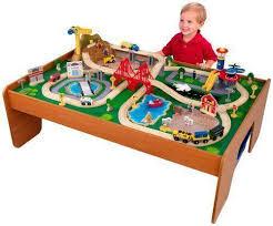 imaginarium classic train table with roundhouse kidkraft train table ebay