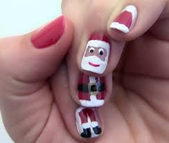 christmas nail design in pink zestymag