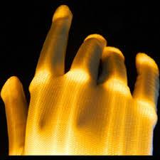 Light Up Gloves Light Up Xo Xbone Led Gloves All Orange Leds Blinkeez Com