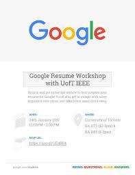Get Your Resume Reviewed Ieee University Of Toronto Student Branch Google X Ieee Uoft