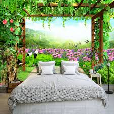 beibehang custom mural wallpaper grape trellis butterfly flowers