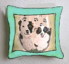 Decorative Dog Pillows Hand Painted Dog Pillows Decorative Dog Pillows Clearly Susan