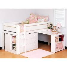 twin loft bed with desk and storage wooden global